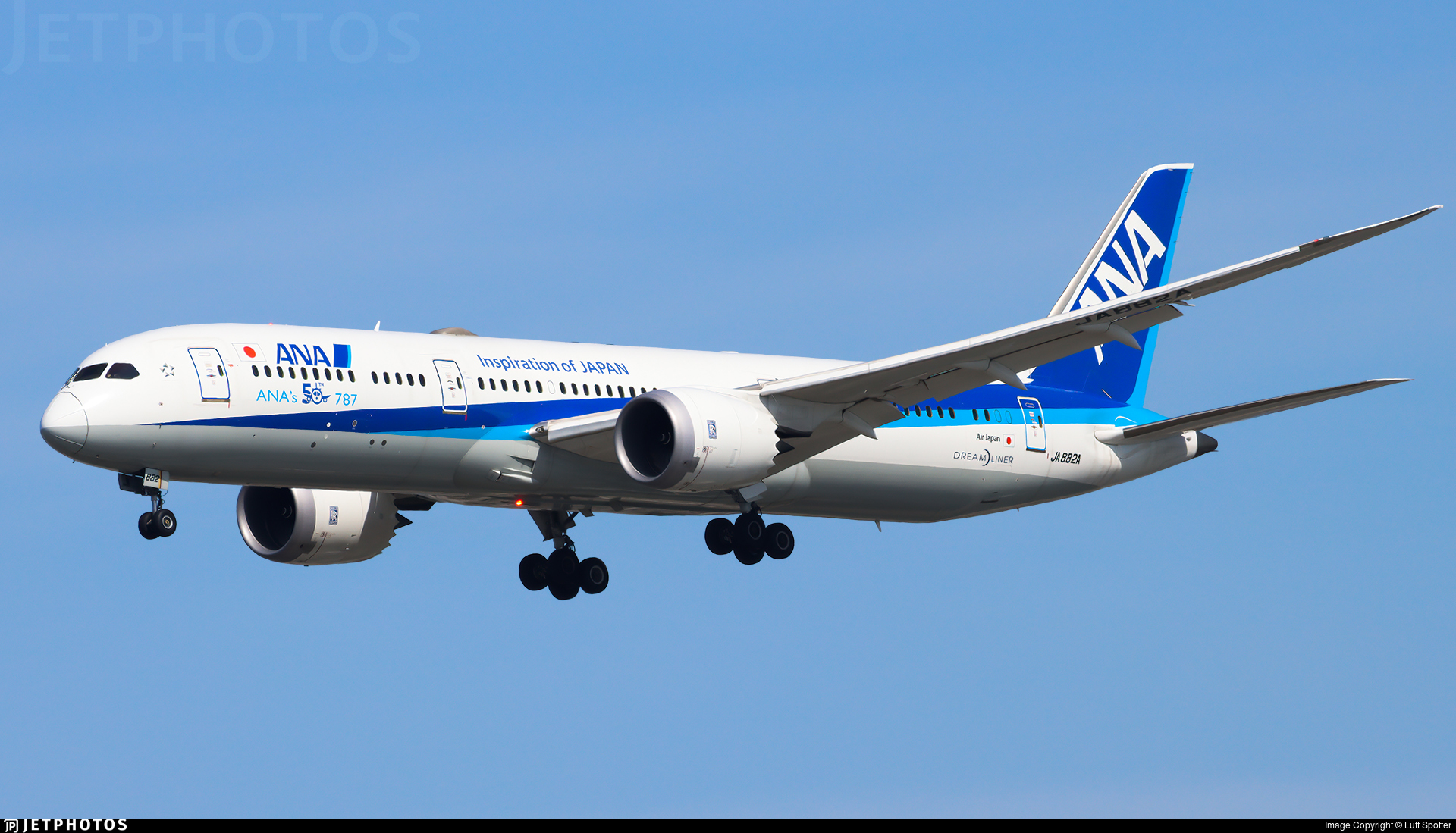 JA882A - Boeing 787-9 Dreamliner - All Nippon Airways (Air Japan)