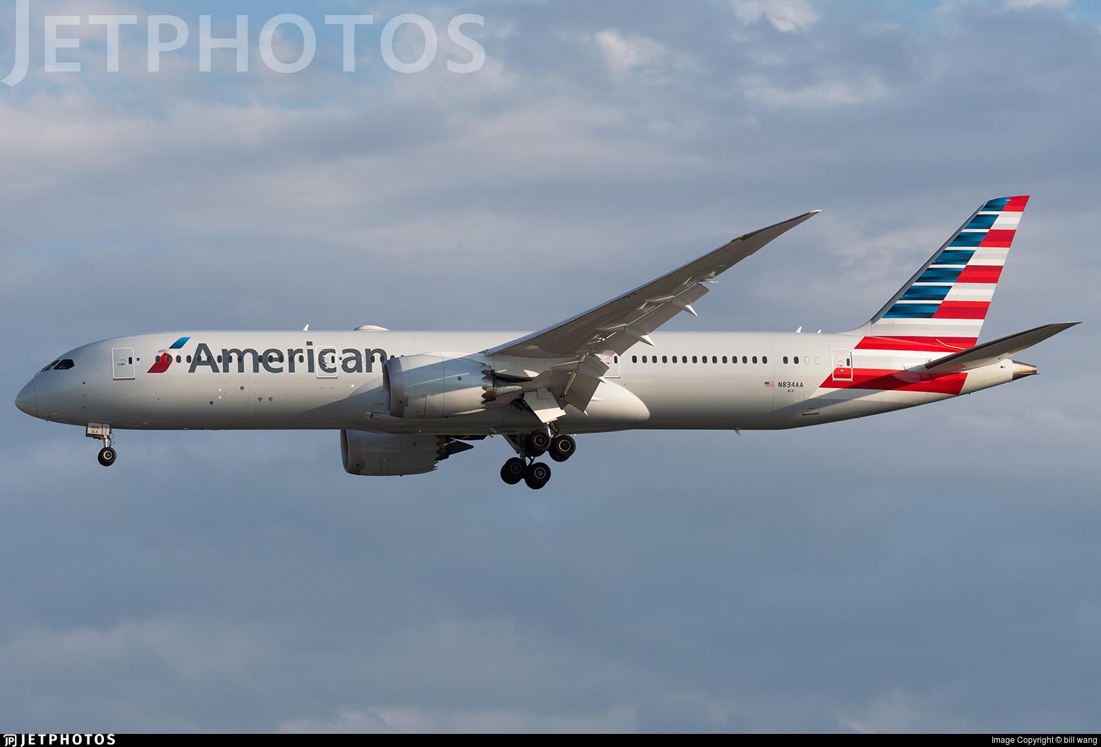 N834aa Boeing 787 9 Dreamliner American Airlines