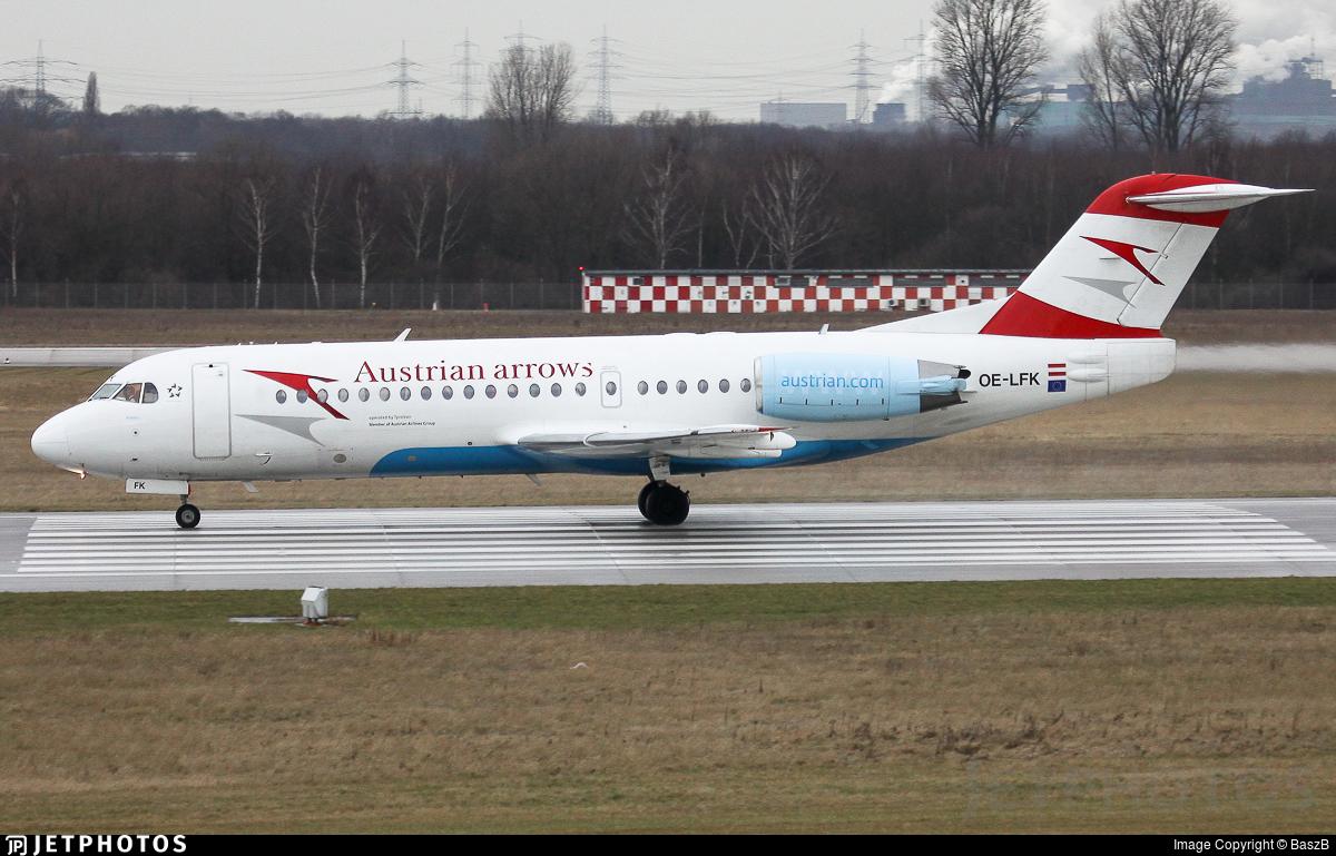 OE-LFK - Fokker 70 - Austrian Arrows