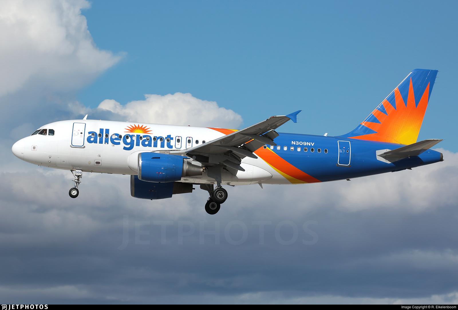 N309NV - Airbus A319-111 - Allegiant Air