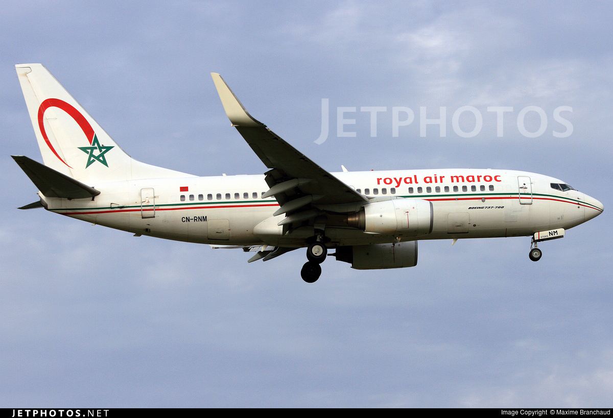 CN-RNM - Boeing 737-7B6 - Royal Air Maroc (RAM)