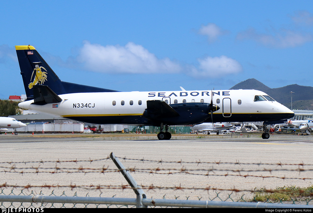 N334CJ - Saab 340B - Seaborne Airlines