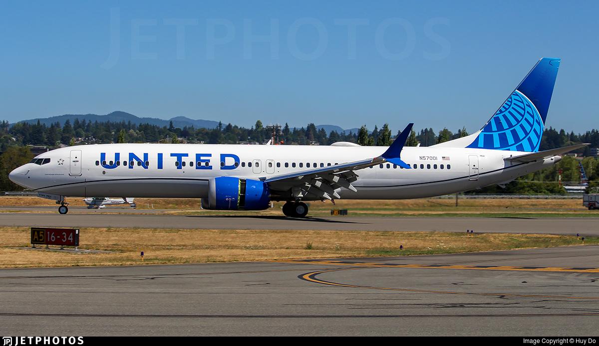 N57001 - Boeing 737-9 MAX - United Airlines