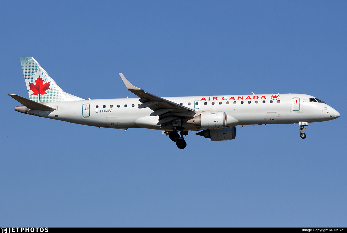 C-FHNW - Embraer 190-100IGW - Air Canada