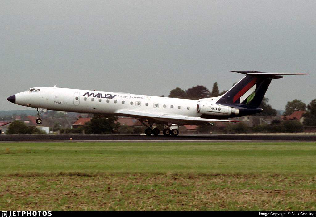 HA-LBP - Tupolev Tu-134A-3 - Malév Hungarian Airlines