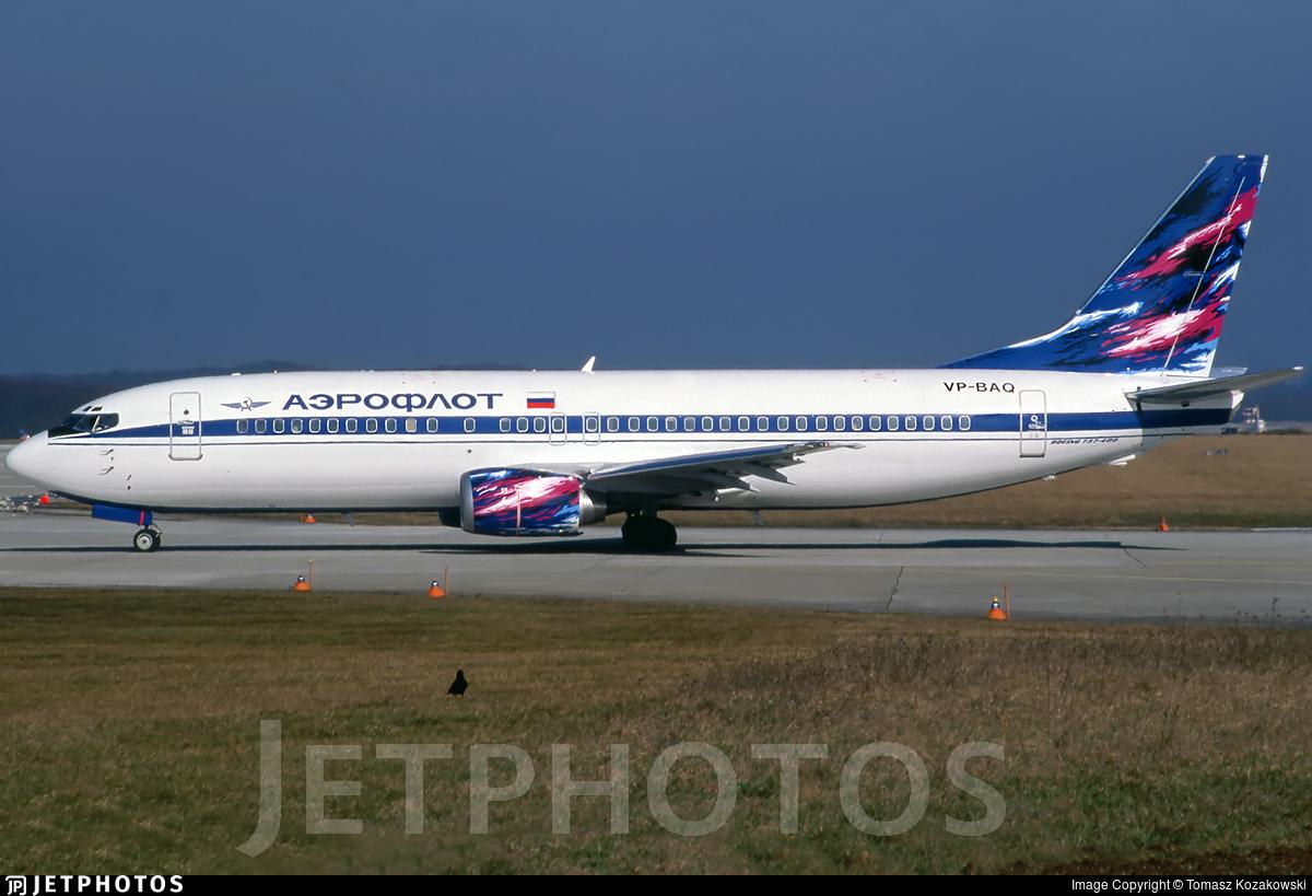 VP-BAQ - Boeing 737-4M0 - Aeroflot