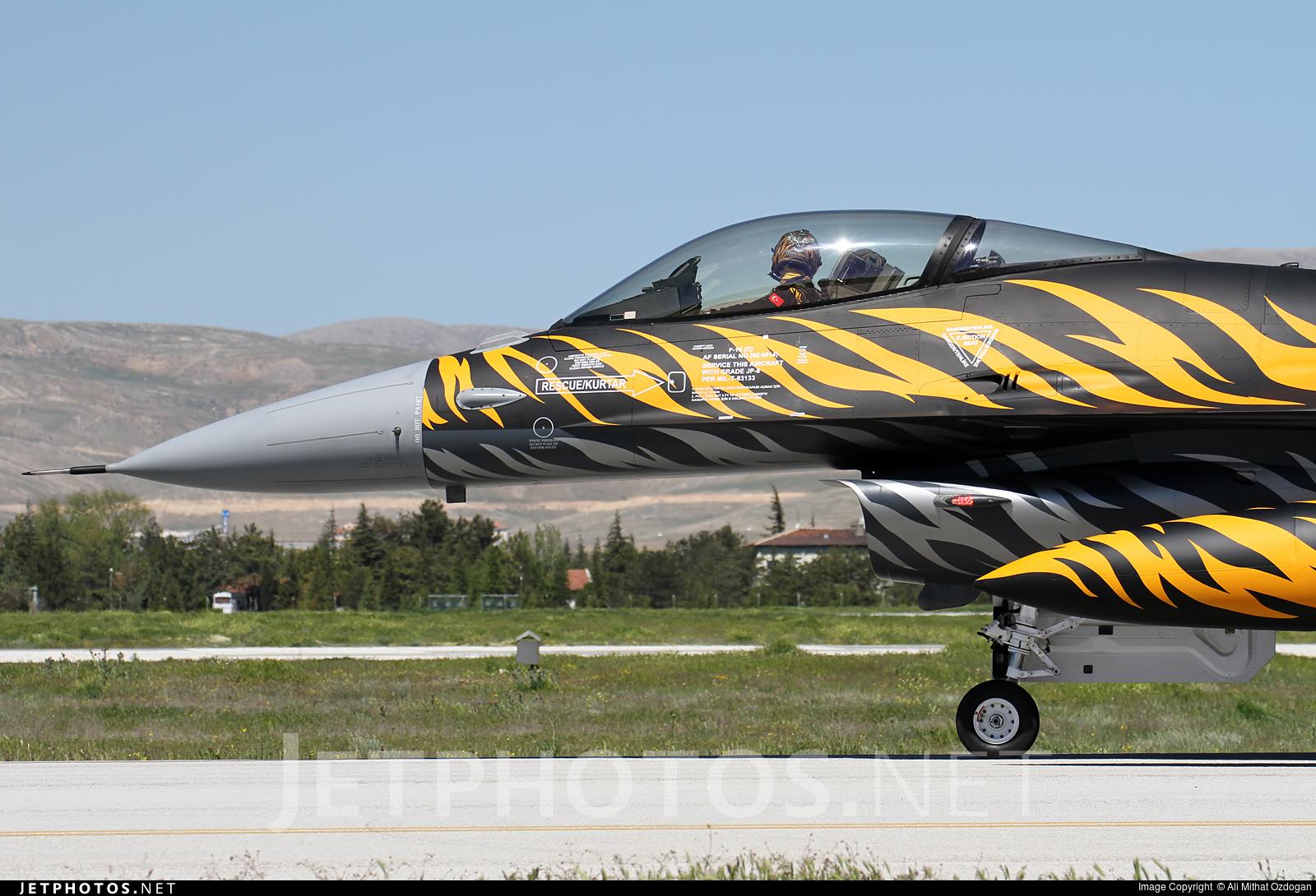 92-0014   General Dynamics F-16C Fighting Falcon   Turkey