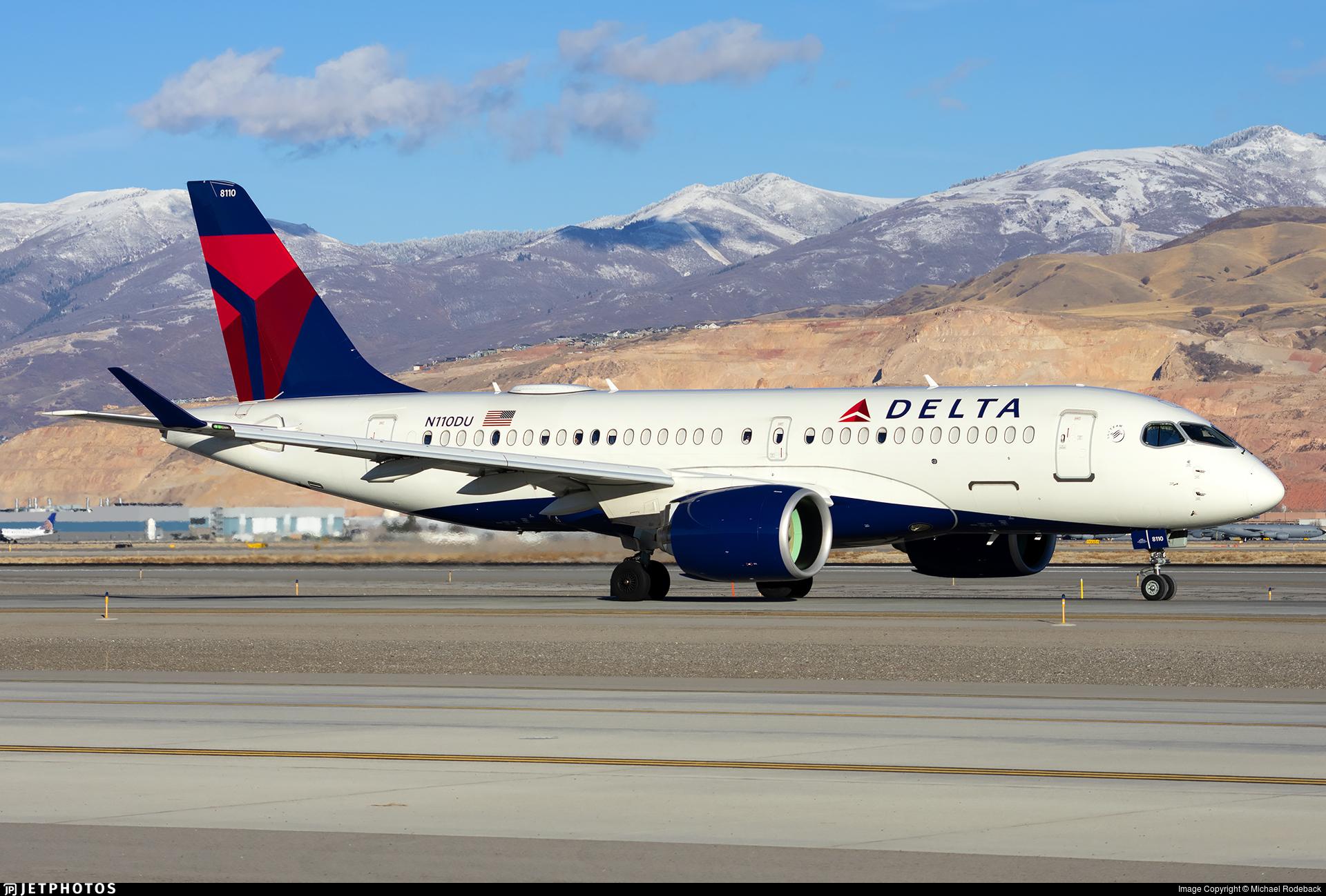 N110DU - Bombardier CSeries CS100  - Delta Air Lines