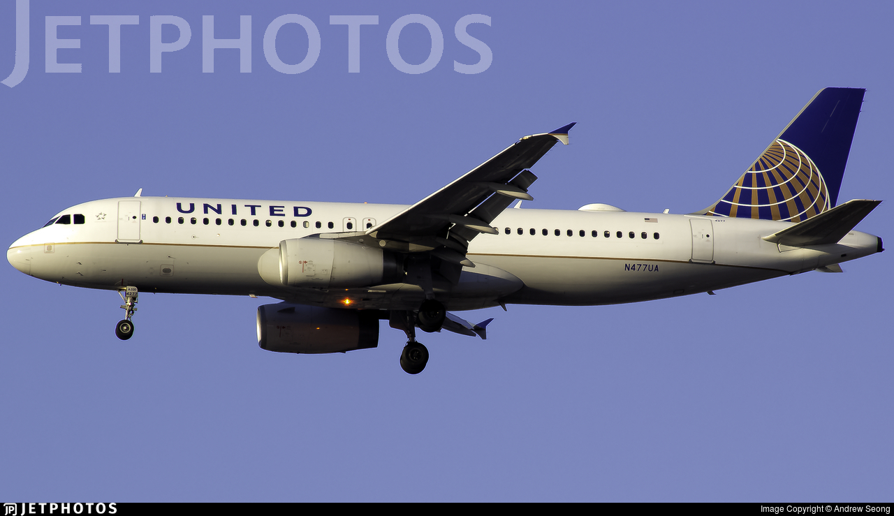 N477UA - Airbus A320-232 - United Airlines