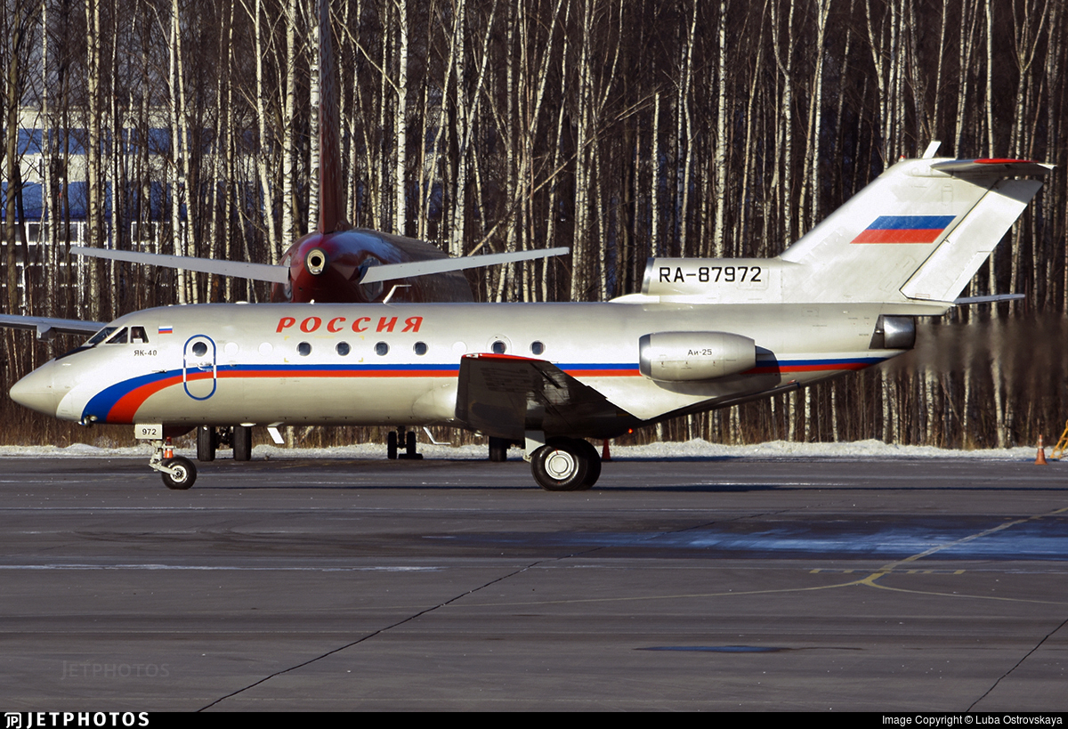 RA-87972 - Yakovlev Yak-40 - Rossiya - Special Flight Squadron