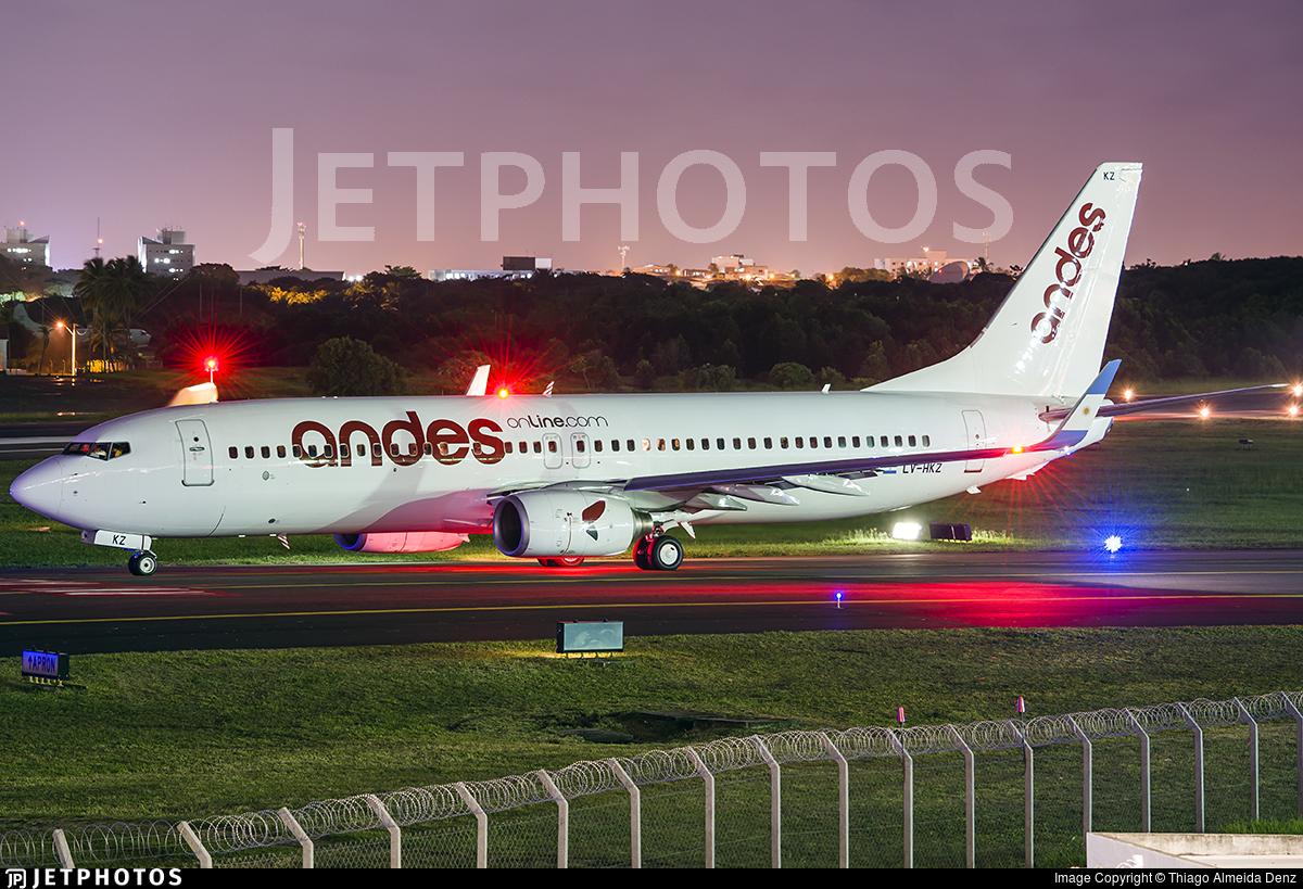 LV-HKZ - Boeing 737-8K5 - Andes Líneas Aéreas
