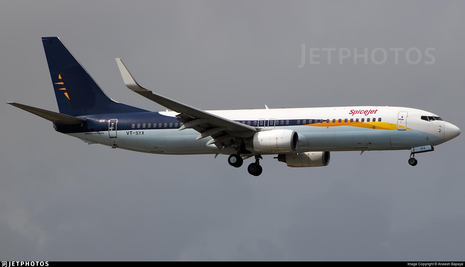 VT-SYX | Boeing 737-85R | SpiceJet | Aneesh Bapaye | JetPhotos