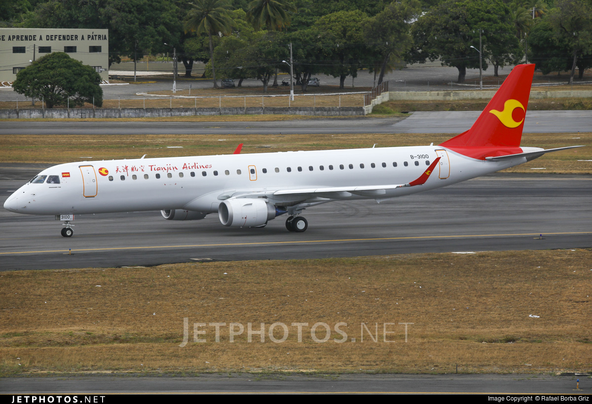 B-3100 - Embraer 190-200LR - Tianjin Airlines