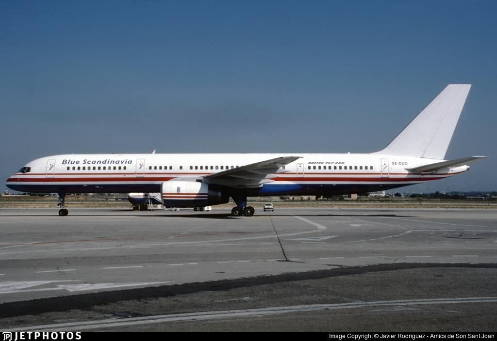 SE-DUO - Boeing 757-236 - Blue Scandinavia