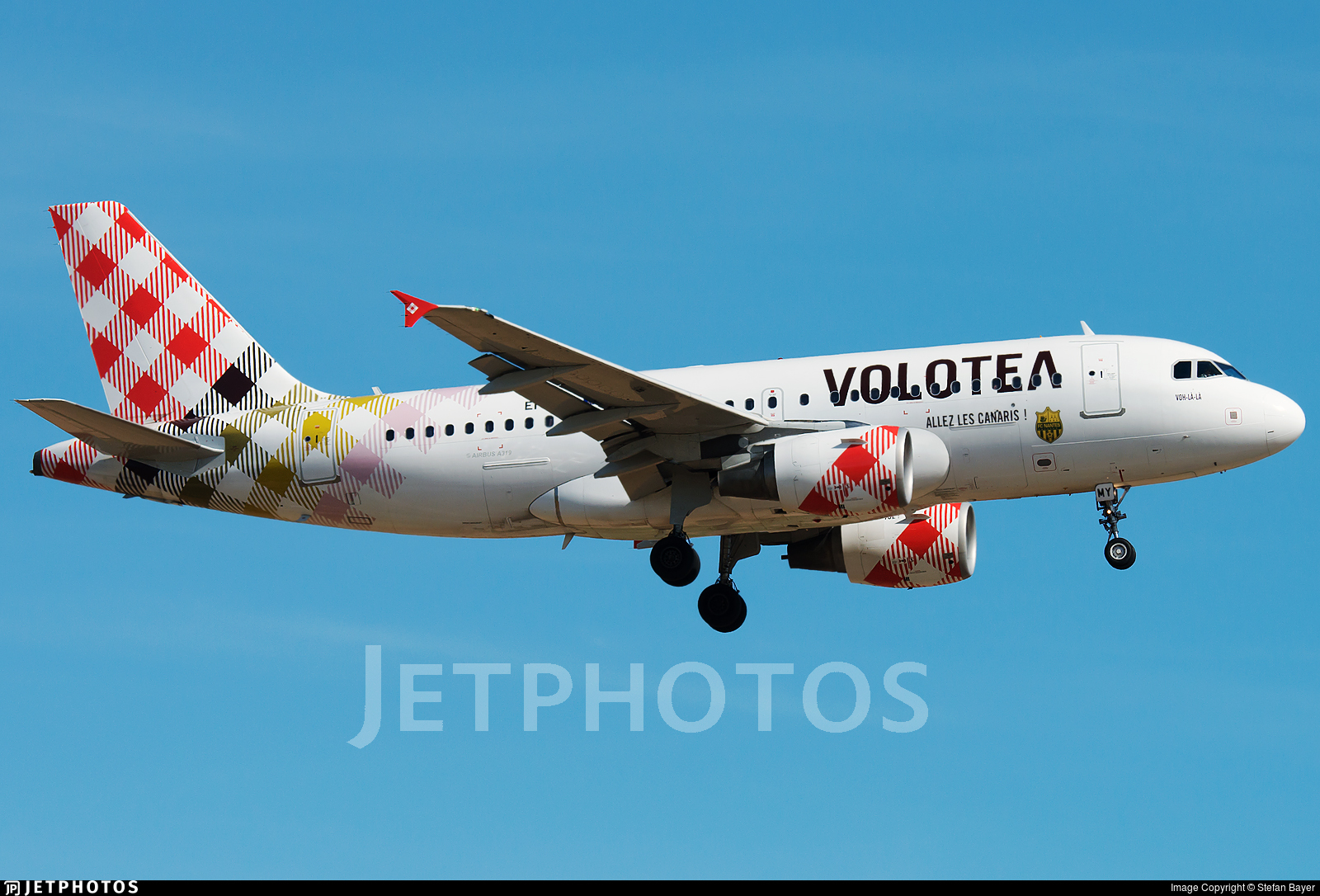 Airbus A319 Volotea aircraft profile sticker