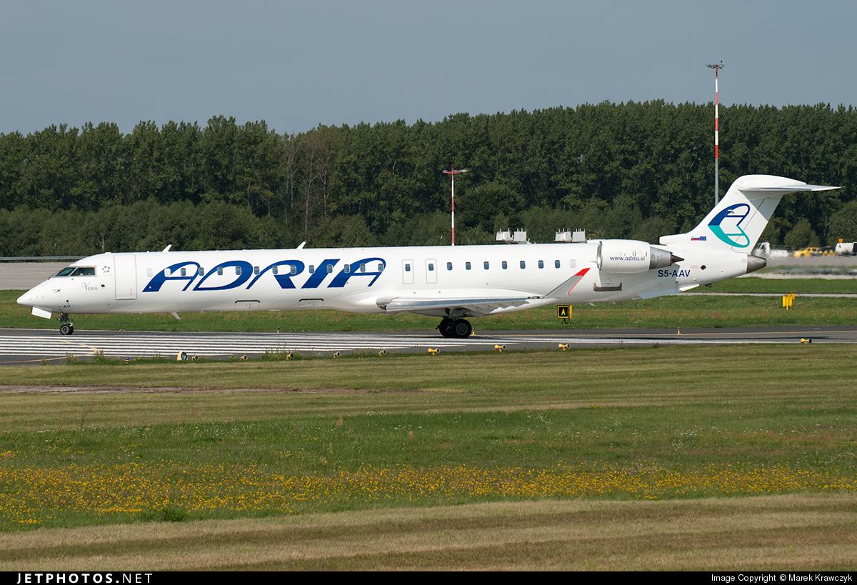 S5-AAV - Bombardier CRJ-900 - Adria Airways