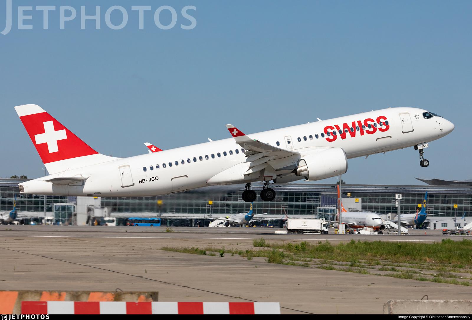 HB-JCO - Bombardier CSeries CS300 - Swiss