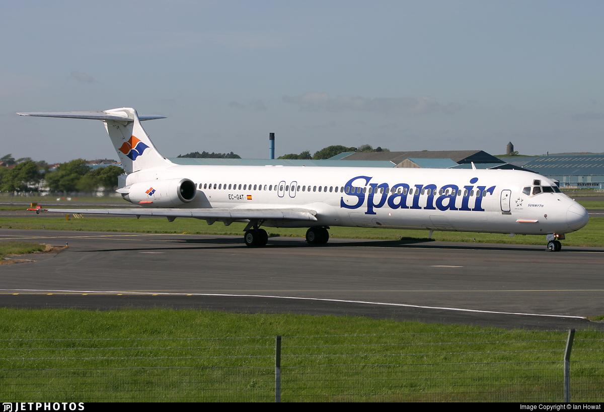 EC-GAT - McDonnell Douglas MD-83 - Spanair