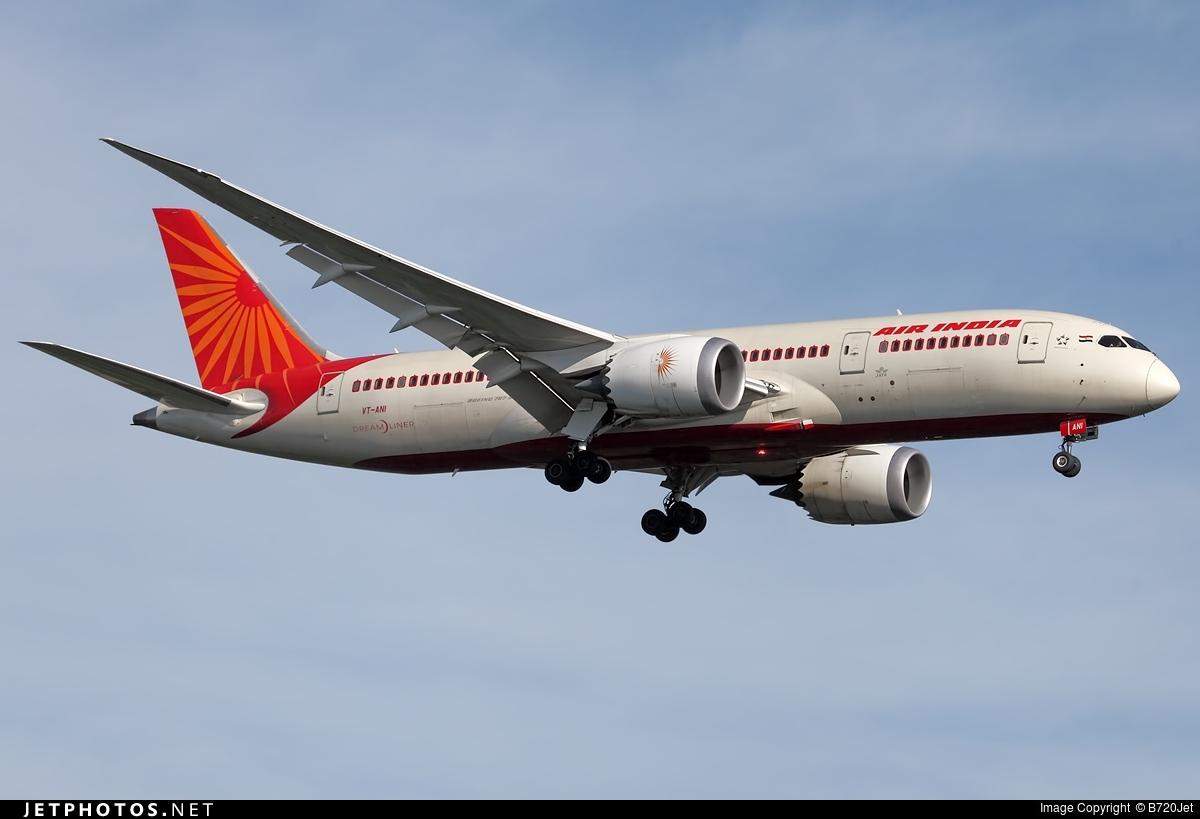 VT-ANI | Boeing 787-8 Dreamliner | Air India | B720Jet ...