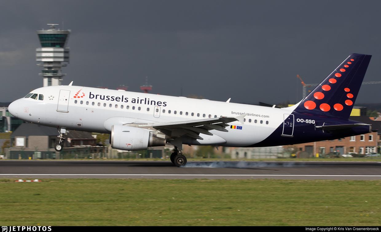 OO-SSG | Airbus A319-112 | Brussels Airlines | Kris Van