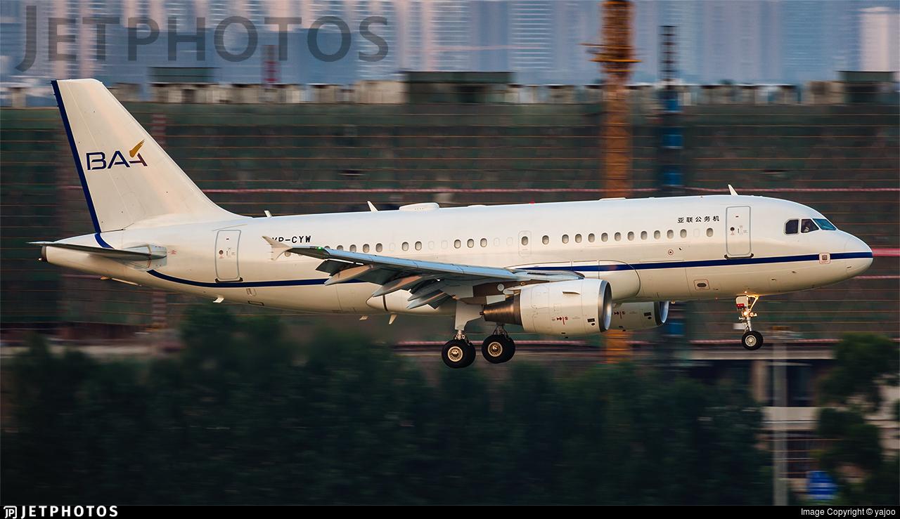 VP-CYW - Airbus A319-115(CJ) - Private