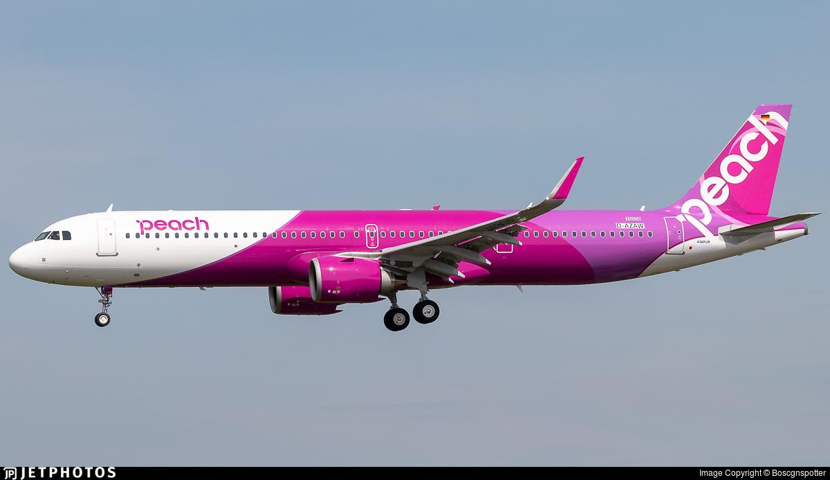 D-AZAW - Airbus A321-251NX - Peach Aviation
