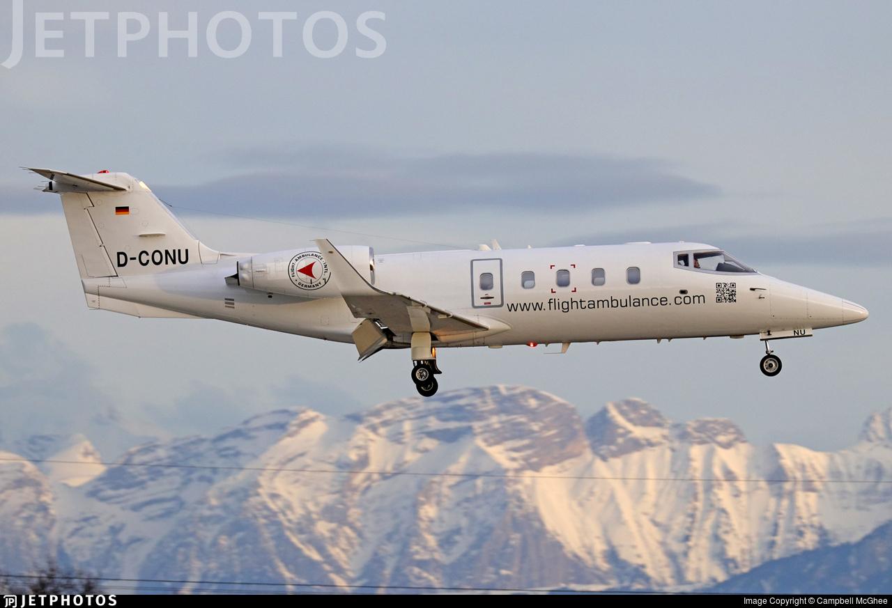 D-CONU - Bombardier Learjet 55 - FAI Flight-Ambulance