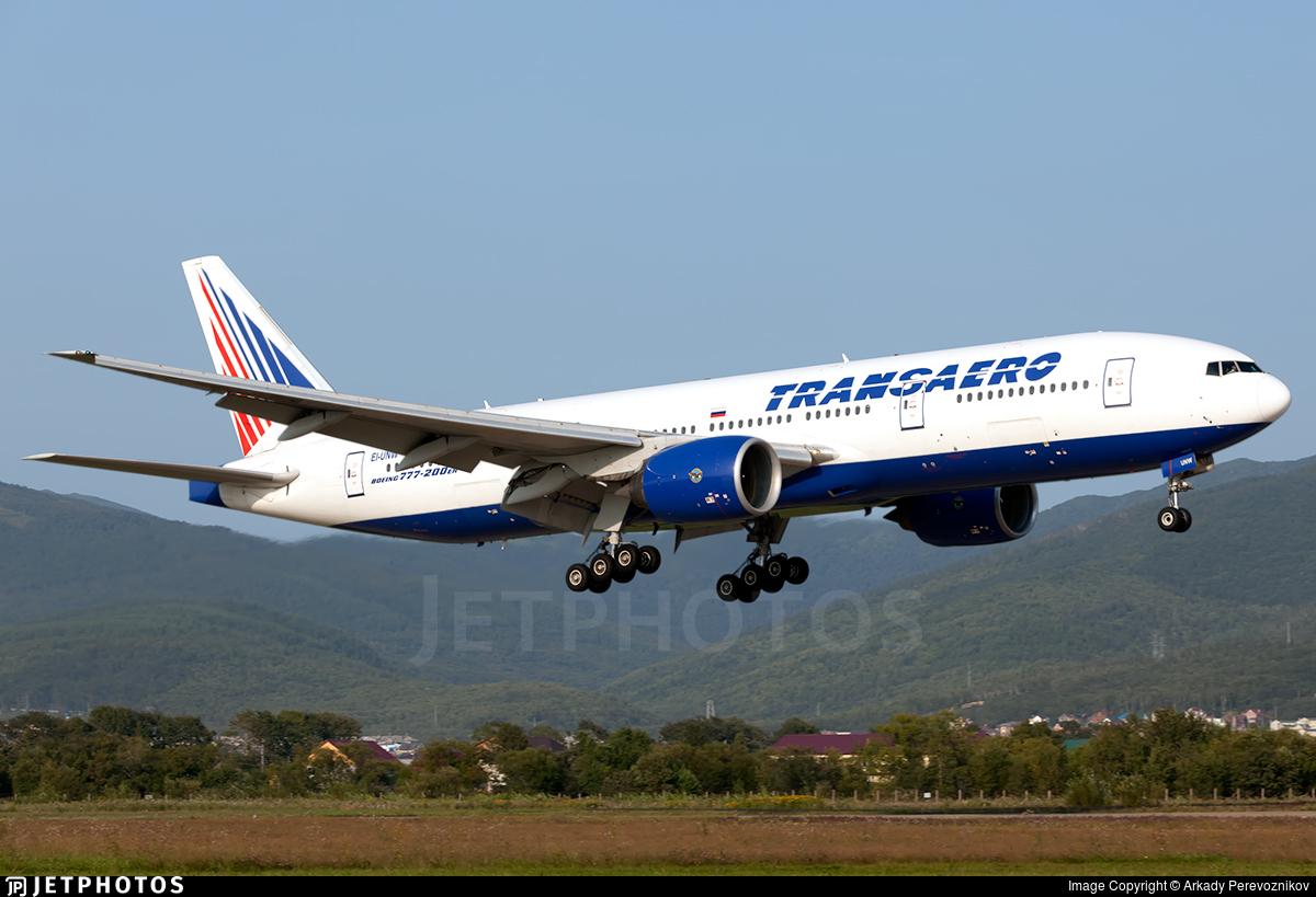 EI-UNW - Boeing 777-222(ER) - Transaero Airlines