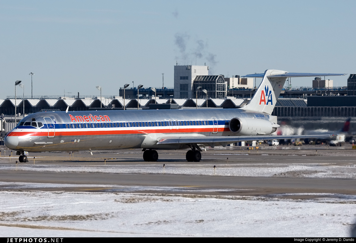 N438aa Mcdonnell Douglas Md 82 American Airlines