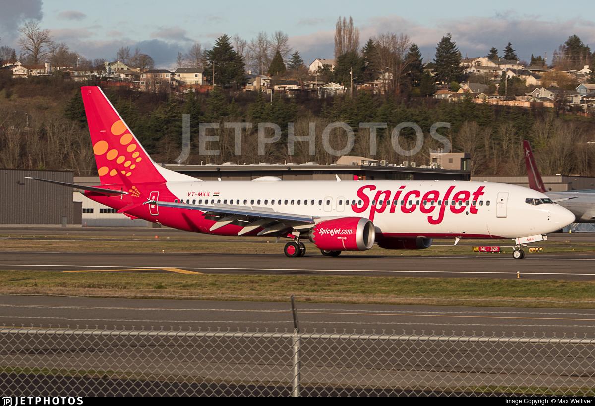 VT-MXX | Boeing 737-8 MAX | SpiceJet | Max Welliver | JetPhotos