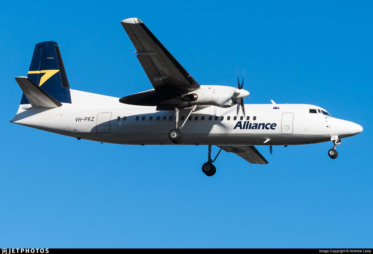 VH-FKZ - Fokker 50 - Alliance Airlines