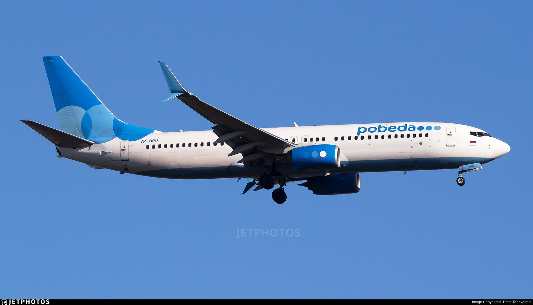 VP-BPU - Boeing 737-8AL - Pobeda
