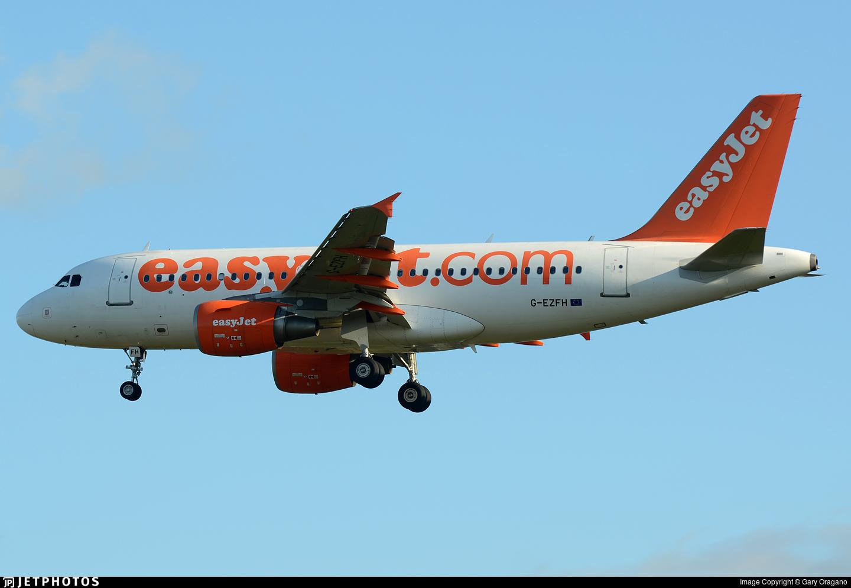 G-EZFH - Airbus A319-111 - easyJet