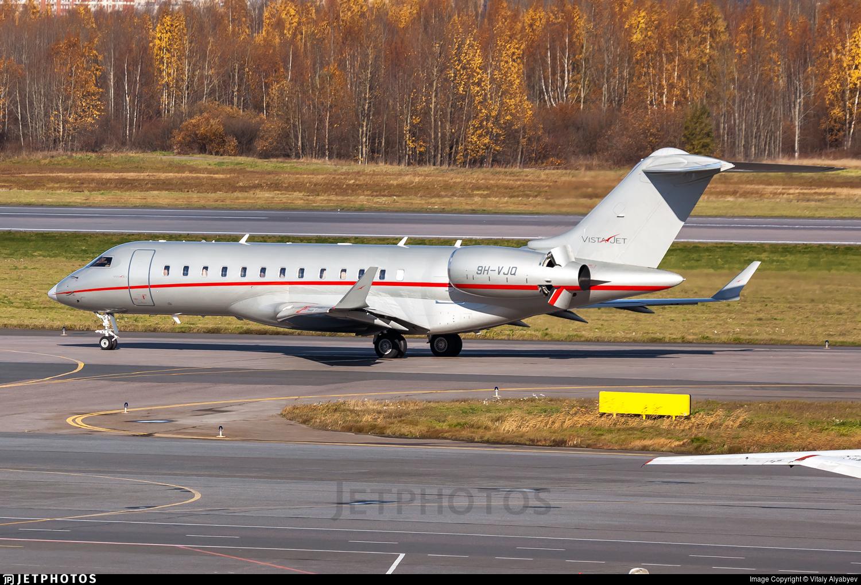 9H-VJQ - Bombardier BD-700-1A10 Global 6000 - VistaJet
