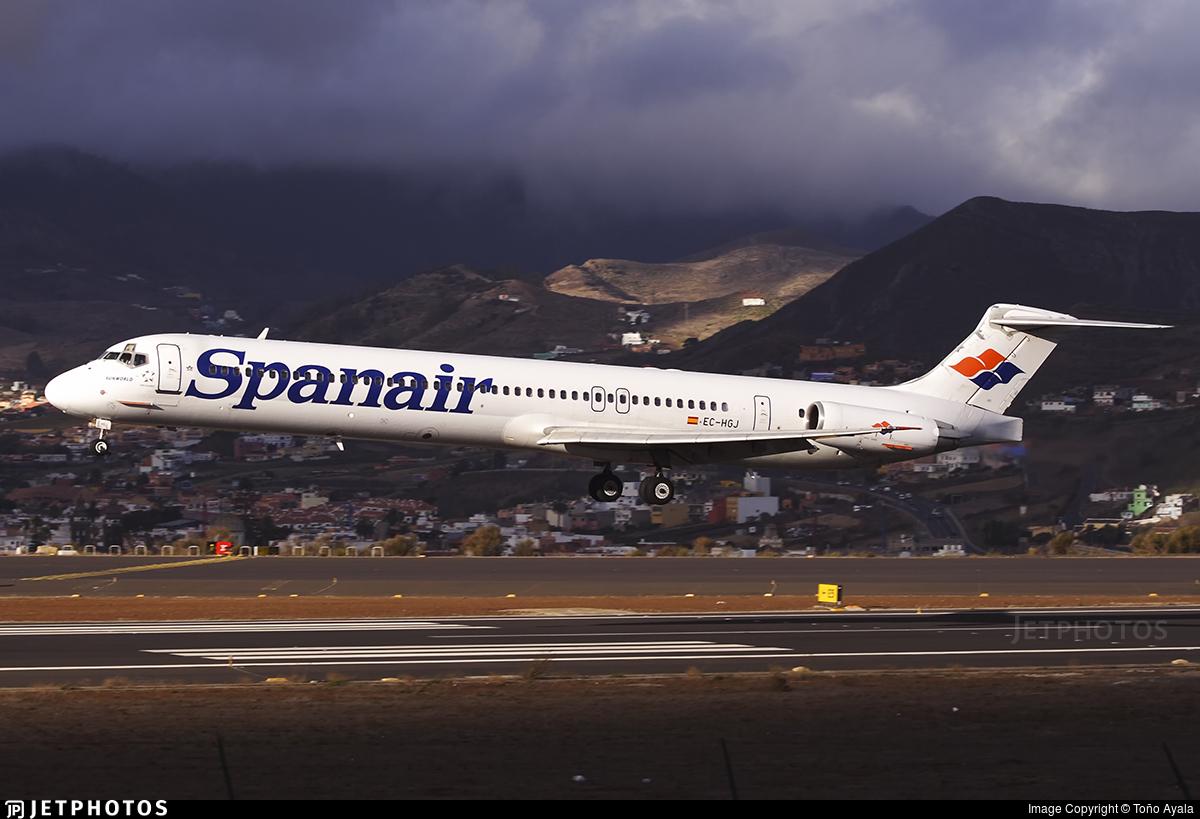 EC-HGJ - McDonnell Douglas MD-82 - Spanair
