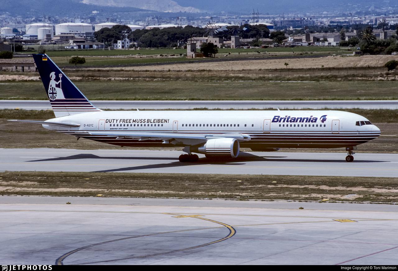 D-AGYC - Boeing 767-304(ER) - Britannia Airways Germany