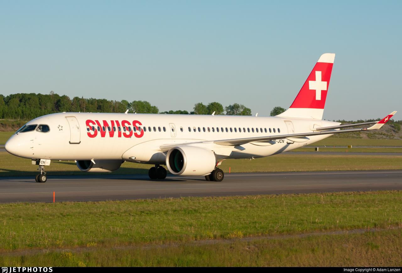 HB-JCN - Bombardier CSeries CS300 - Swiss