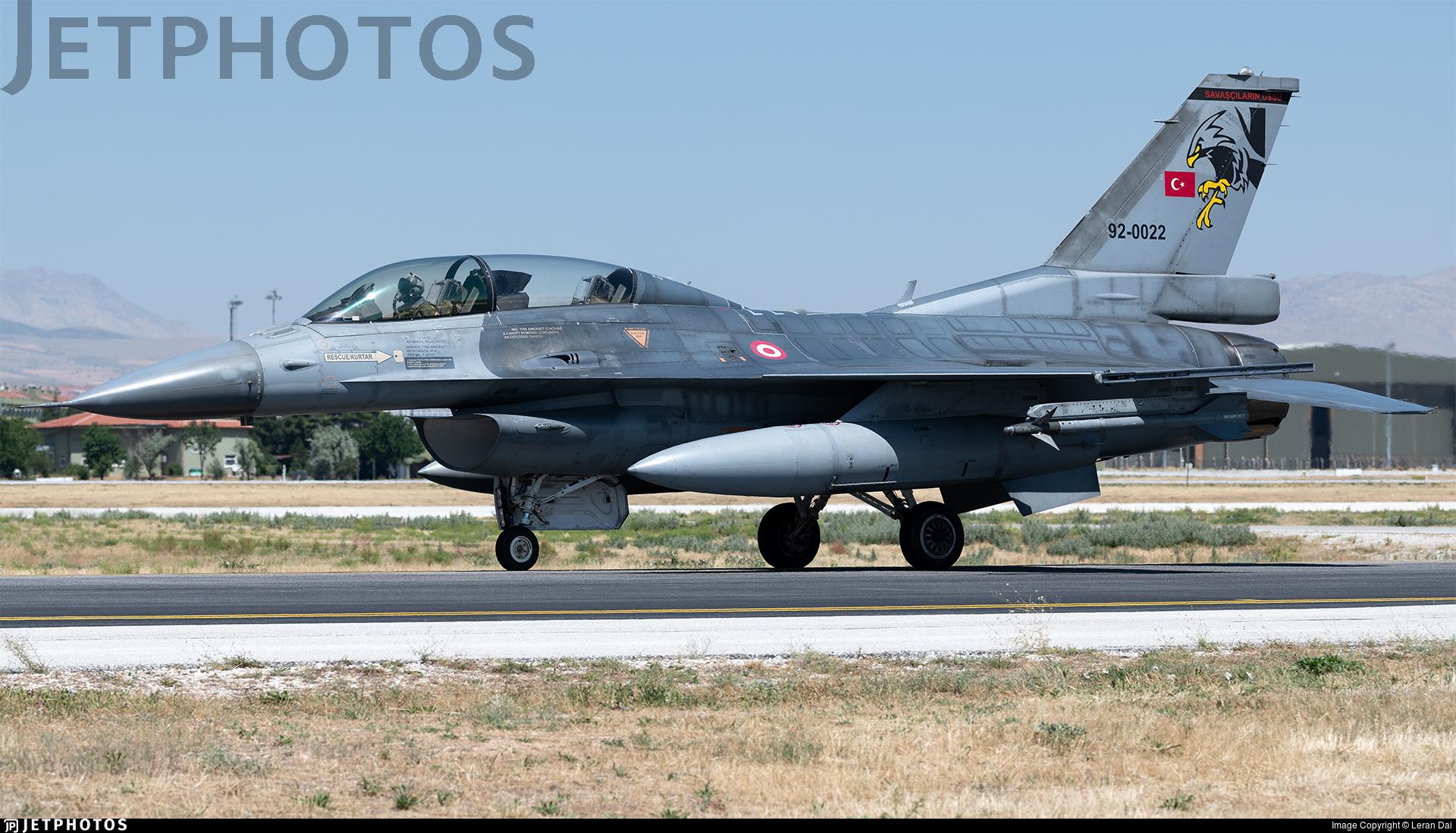 92-0022 - General Dynamics F-16D Fighting Falcon - Turkey - Air Force