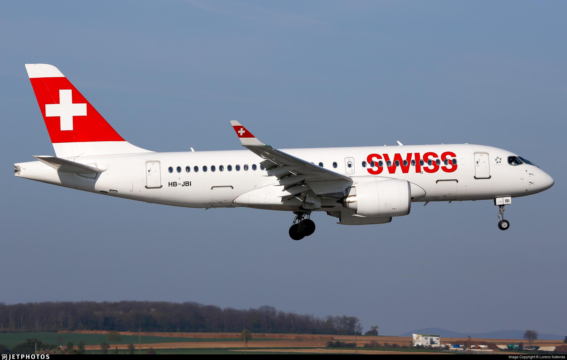 HB-JBI - Bombardier CSeries CS100  - Swiss