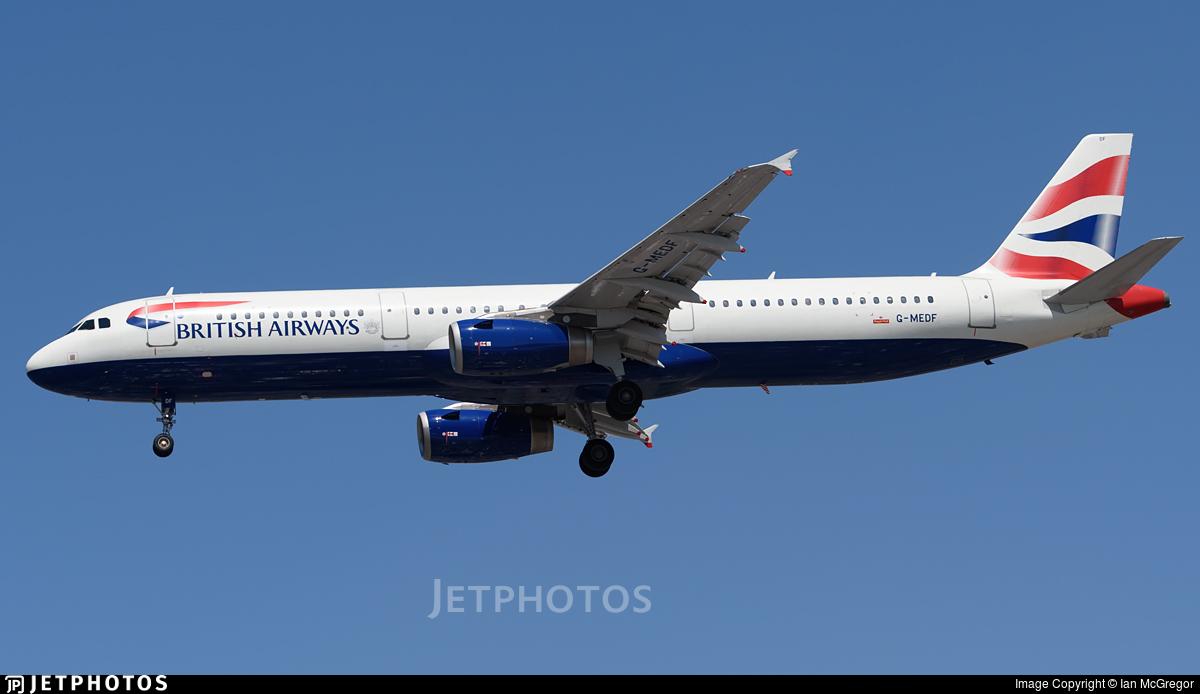 G-MEDF - Airbus A321-231 - British Airways
