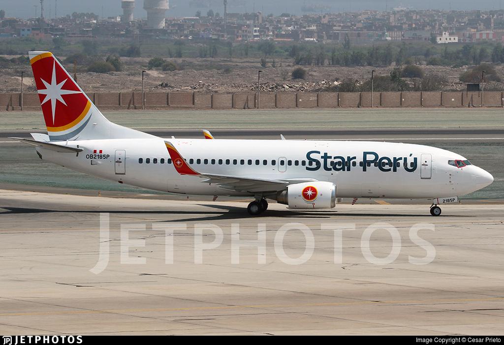 OB2185P - Boeing 737-3H4 - Star Perú