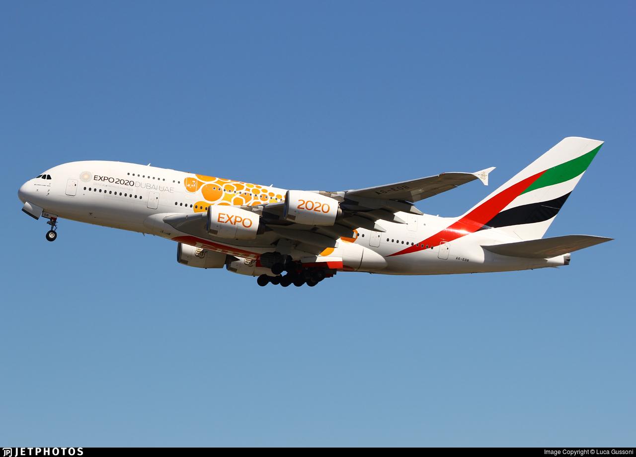A6-EOB - Airbus A380-861 - Emirates