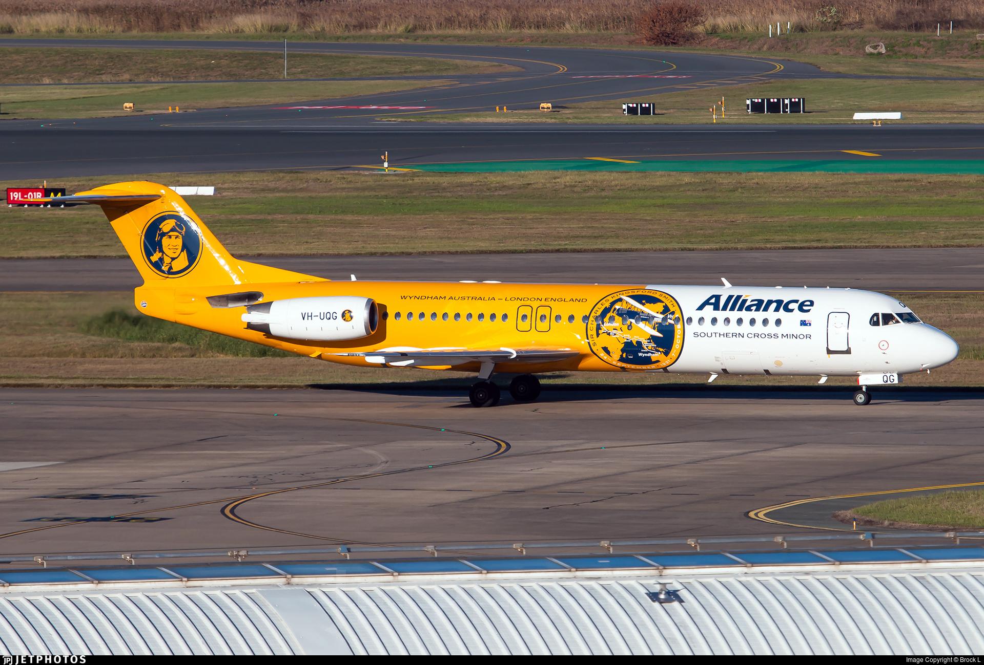 VH-UQG - Fokker 100 - Alliance Airlines
