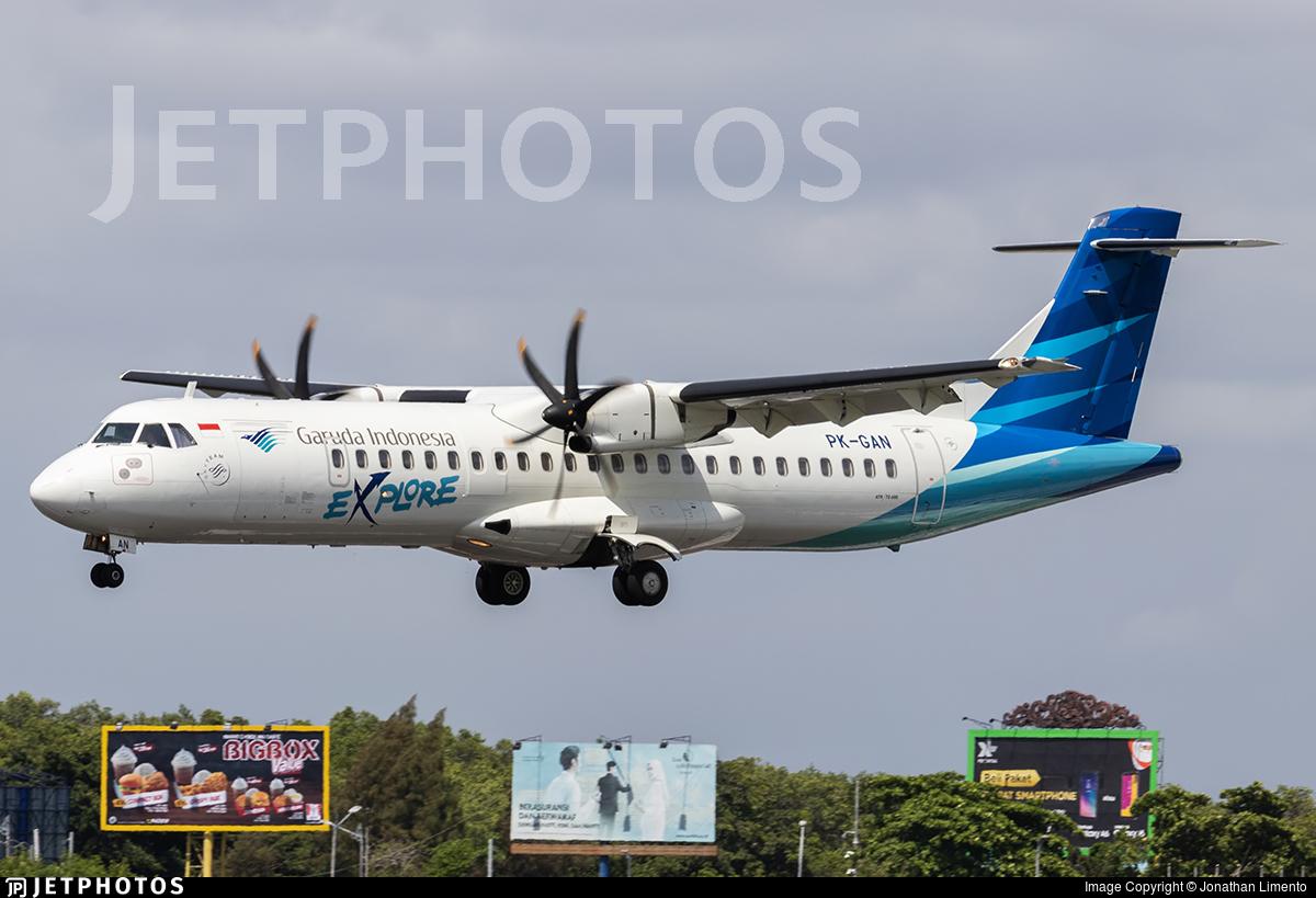 PK-GAN - ATR 72-212A(600) - Garuda Indonesia Explore