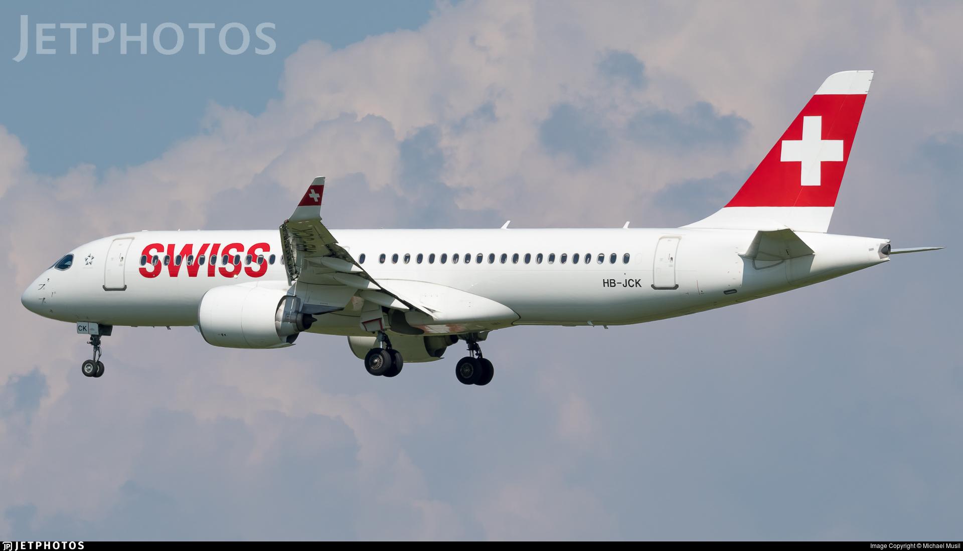 HB-JCK - Bombardier CSeries CS300 - Swiss