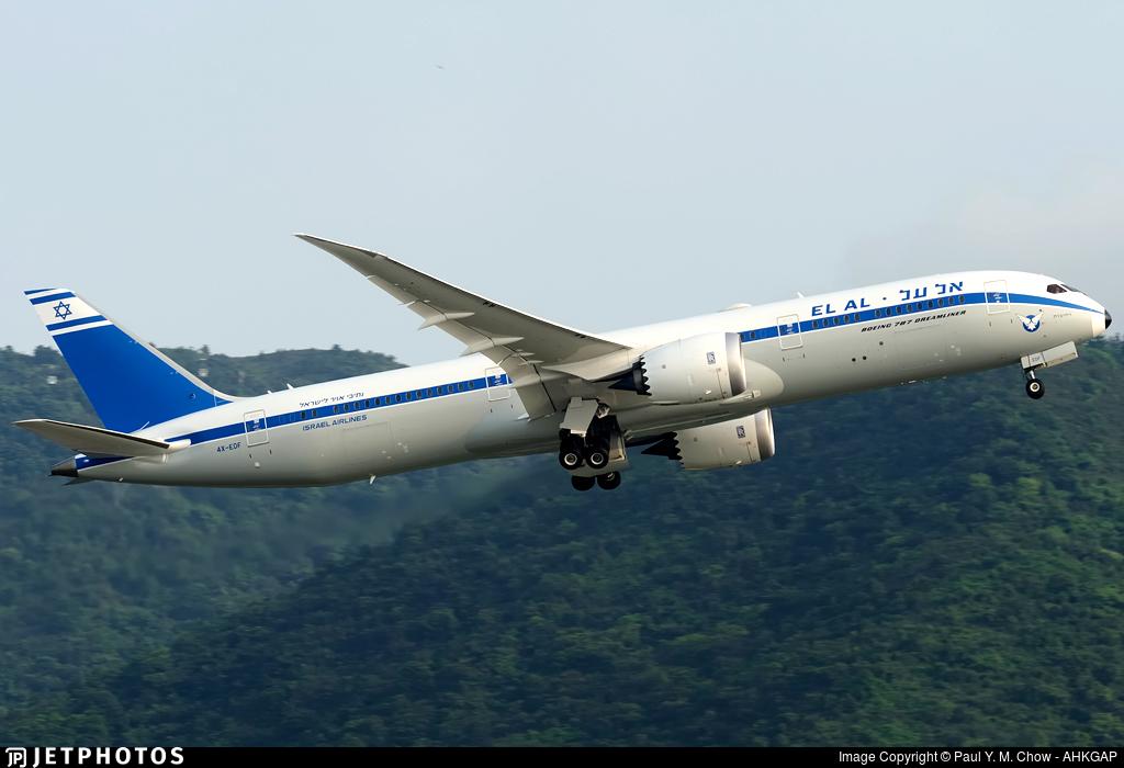 4X-EDF | Boeing 787-9 Dreamliner | El Al Israel Airlines