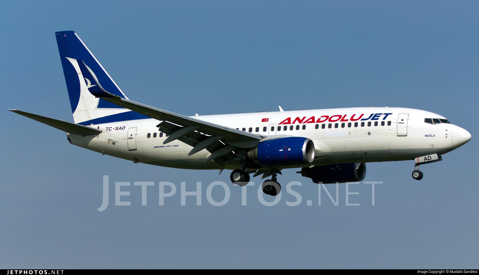 TC-SAD - Boeing 737-76N - AnadoluJet
