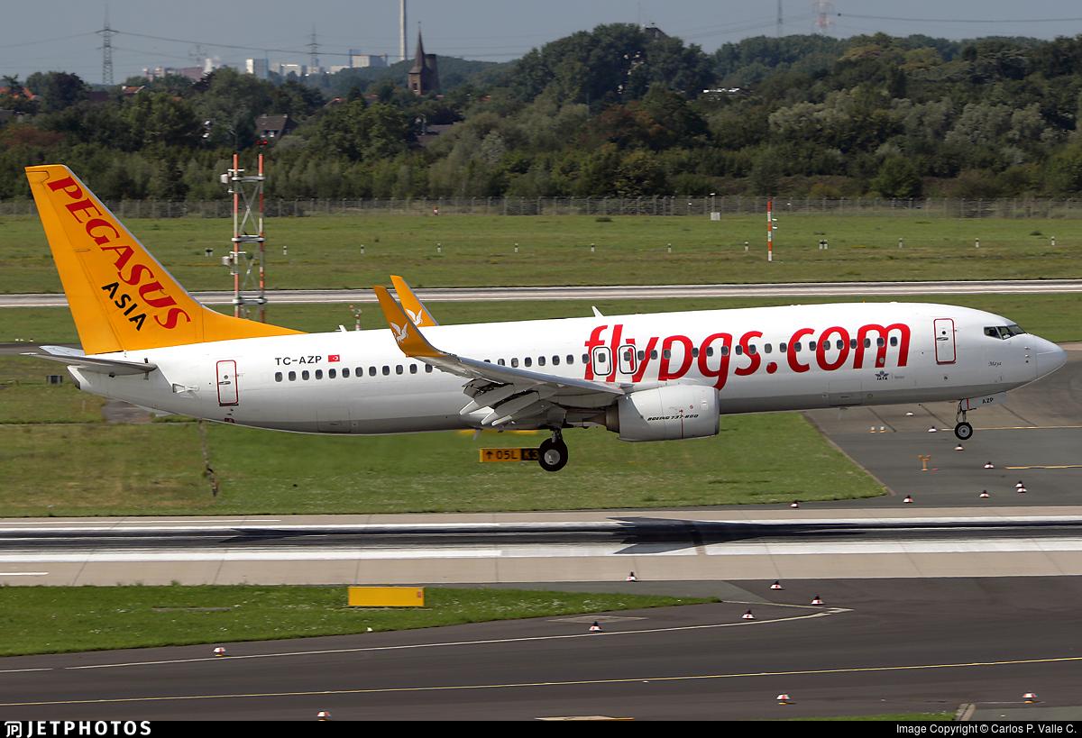 TC-AZP - Boeing 737-82R - Pegasus Airlines Asia