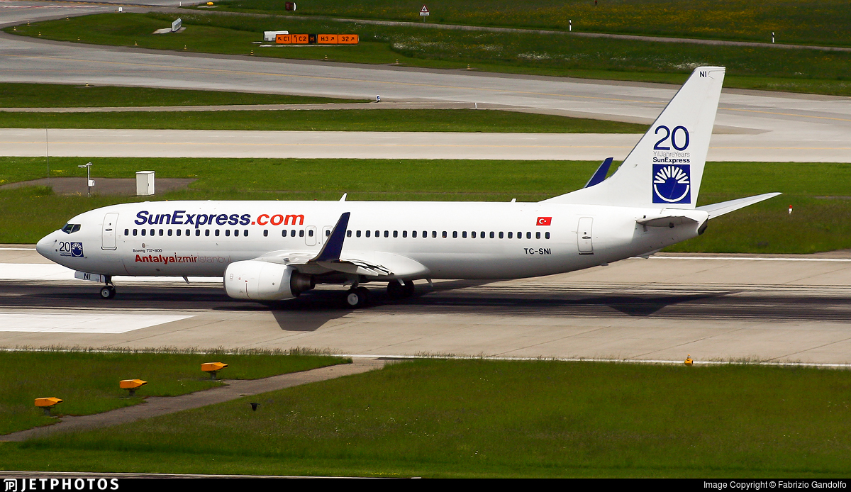 TC-SNI - Boeing 737-8FH - SunExpress