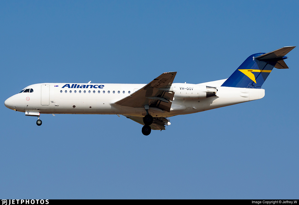VH-QQV - Fokker 70 - Alliance Airlines